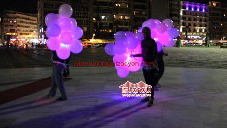 Işıklı Balonlar ve Ledli Uçan Balon İstanbul Organizasyon