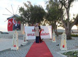 Romantik Dans Anı ve Alaçatı Evlilik Teklifi Organizasyonu