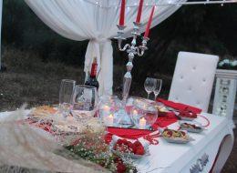 Masa Süsleme ve Sürpriz Evlilik Teklifi Organizasyonu Bodrum