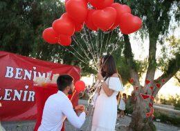 Evlilik Teklifi Anı ve Sürpriz Evlenme Teklifi Organizasyonu Alaçatı