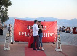 Sürpriz Evlilik Teklifi Organizasyonu Yer Volkanları Gösterisi İstanbul