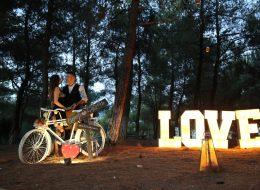 Dekoratif Bisikletle Süsleme Evlenme Teklifi Organizasyonu İstanbul