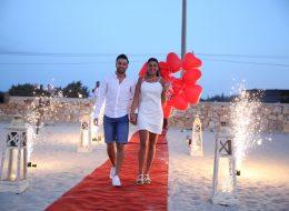 Yer Volkanları ve Uçan Balonlar Eşliğinde Kumsalda Evlenme Teklifi Organizasyonu İstanbul
