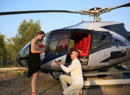 Evlilik Teklifi Anı İstanbul Helikopterde Evlilik Teklifi Organizasyonu