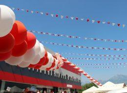 Zincir Balon ve Üçgen Bayrak Süsleme Açılış Organizasyonu
