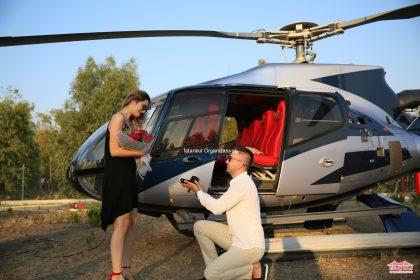 Helikopterde Evlilik Teklifi Organizasyonu Paketi İstanbul Organizasyon