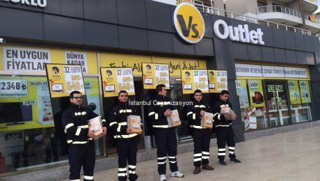 Vs Outlet Reklam ve Pazarlama Aktiviteleri Profesyonel İlan Dağıtımı İstanbul Organizasyon