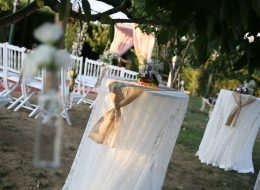 Düğün Organizasyonu Kumaş Rafya Süsleme Hizmeti İzmir Organizasyon