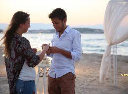 Kumsalda Romantik Evlilik Teklifi Organizasyonu Kilyos