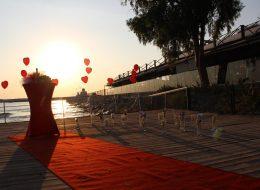 İskelede Evlenme Teklifi Organizasyonu Yürüyüş Yolu İstanbul