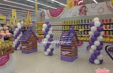 Milka Standları Balon Süsleme