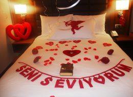 Otel Odası Süsleme Evlilik Teklifi Organizasyonu İstanbul
