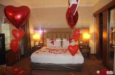 Otel Odası Süsleme Evlilik Teklifi Organizasyonu Paketi İstanbul Organizasyon
