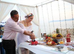 İskelede Evlenme Teklifi Organizasyonu Butik Pasta Kesme İstanbul Organizasyon