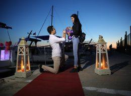 Denizci Fenerleri ile Yürüyüş Yolu Süsleme ve Evlenme Teklifi Anı İstanbul