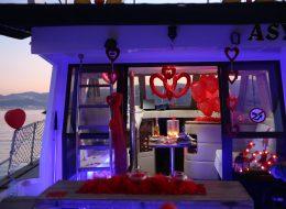 Tekne Süsleme ve Evlilik Teklifi Organizasyonu İstanbul