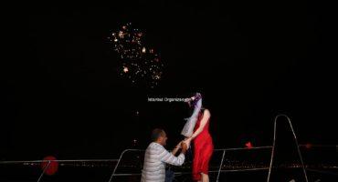 Teknede Evlilik Teklifi Organizasyonu Paketi İstanbul Organizasyon